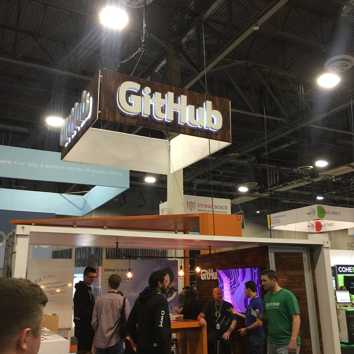 Github booth at re:invent expo
